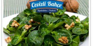 cevizli ispanak salatasi